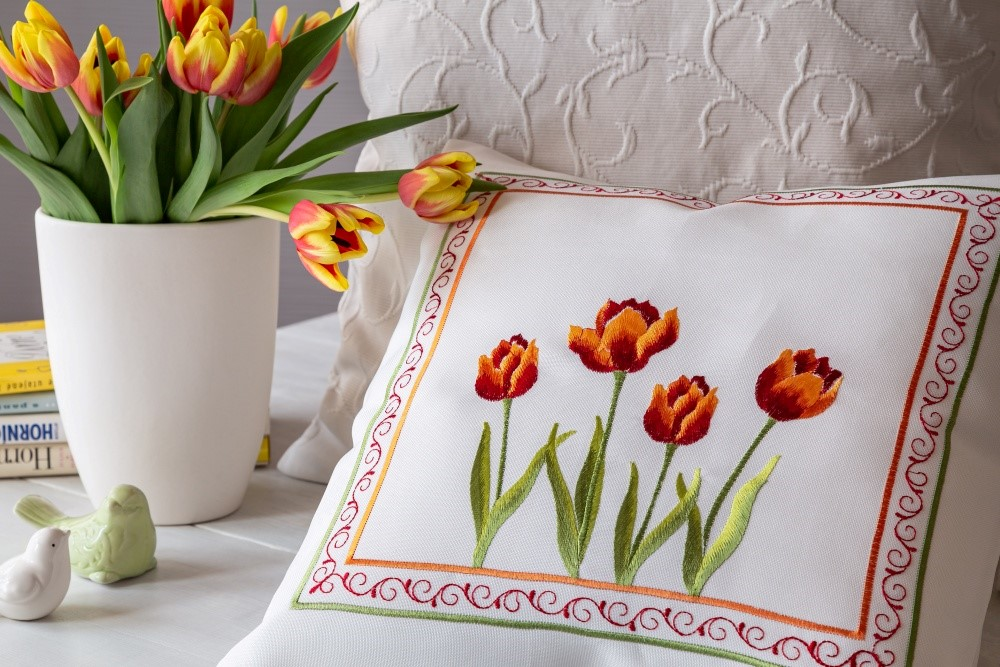 Textil jarou maľovaný2