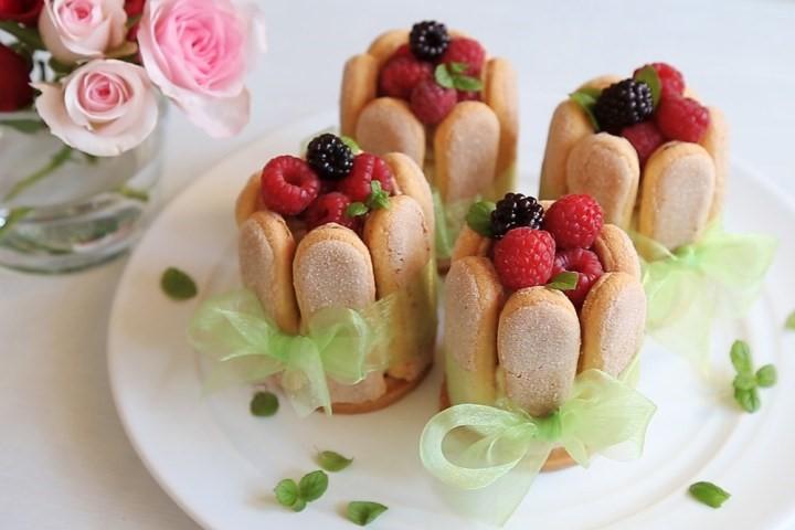 Piškótový dezert s malinami + video
