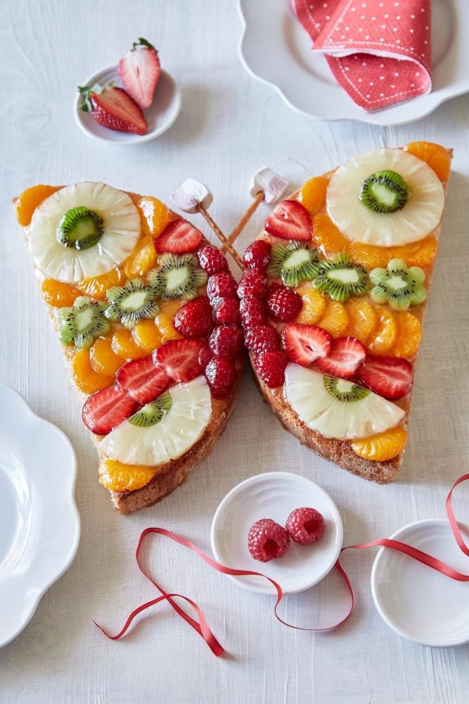 ovocná torta motýľ i bez pečenia 2