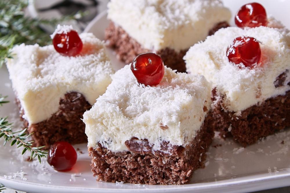 Zimné zaviate kokosové rezy 5