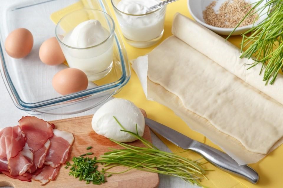 Roláda s vajcami a mozzarelou 2