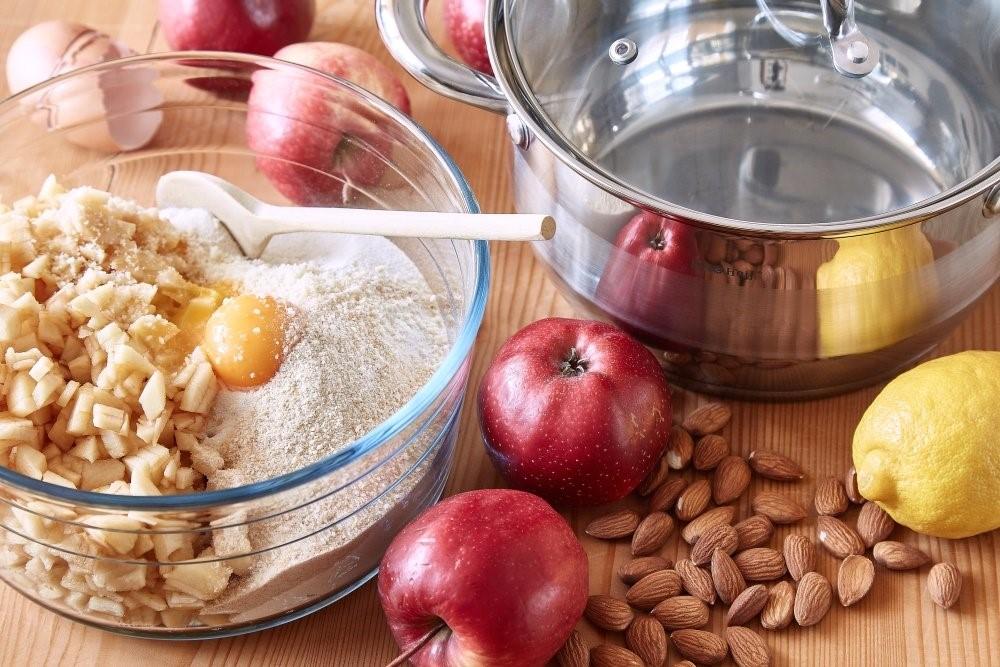 Jablkové knedle s mandľami bez plnenia 3