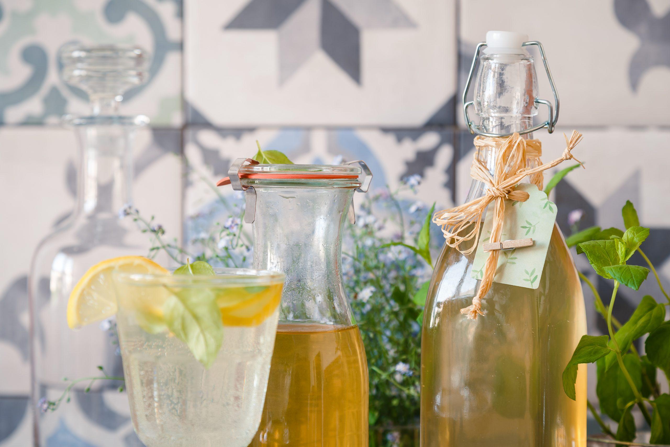 Mätový sirup do letných limonád