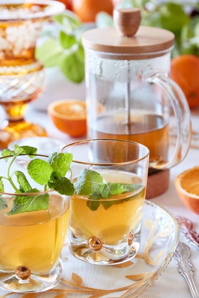Marocký mätový čaj z French press 3