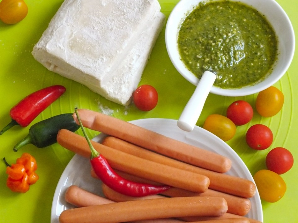 Plnené jednohubky s bazalkovým pestom 2