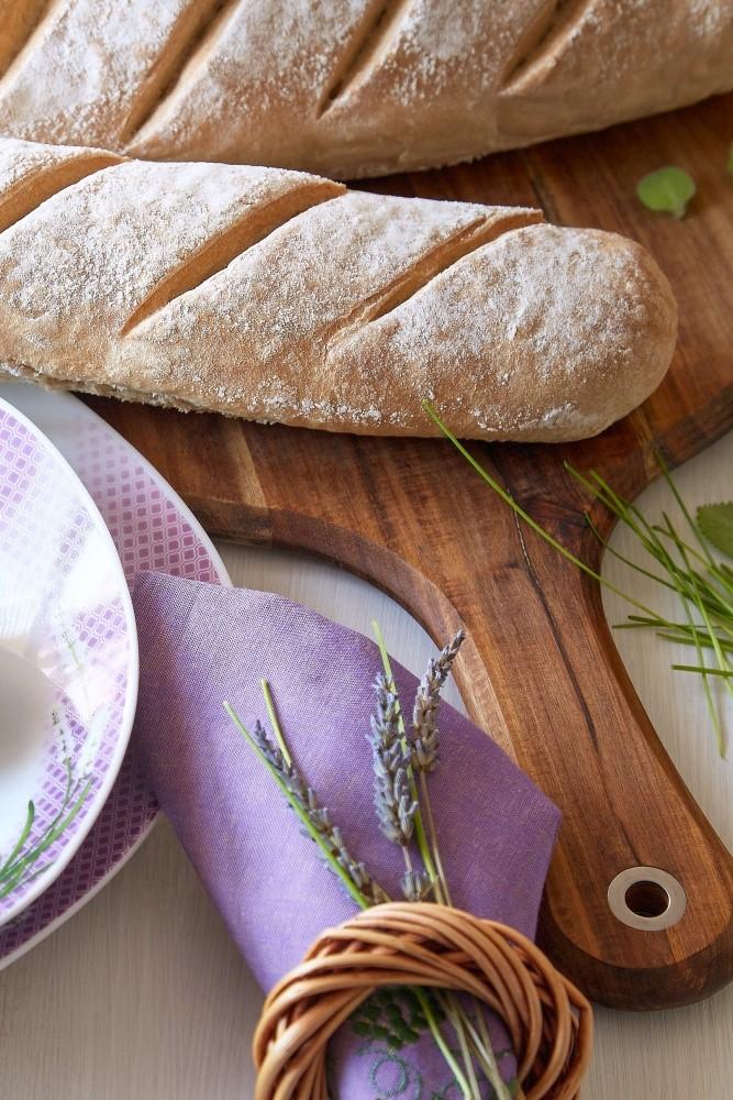 Domáce bagety a taniere s levanduľou 2
